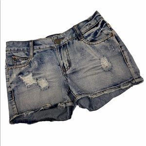 GUC PARASUCO Distressed Denim Shorts Size 24